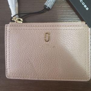 Marc Jacobs- Metallic Pink Softshot Wallet